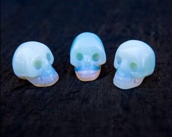 Opalite Skull/ Handcarved Skull Art/ Opalite Gemstone Skull Carving