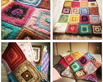 Hippie Blanket. Padded. Wool and dust.