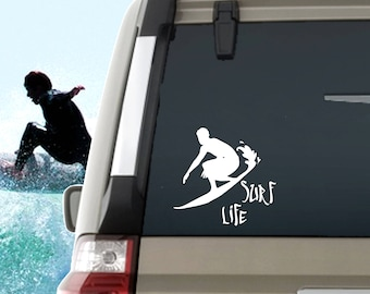 Surf Life Decal / Surfing Window Decal / Surf Life Laptop Computer Decal / Surf Life Car Decal / Surfing decal / Surf life Window Decal