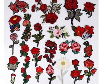rose patch flower patch embroidered patch iron on patch cute patch iron on patch sew on patch