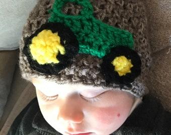 Crochet Tractor Beanie, Tractor hat, Baby, crochet tractor beanie, boy tractor hat, boy tractor beanie
