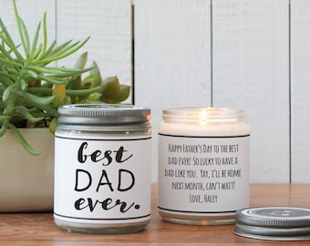 Best Dad Ever Soy Candle Gift | Father's Day Gift | Gift for Dad | Soy Candle Gift | Birthday Gift for Dad | Dad Gift | Personalized Gift