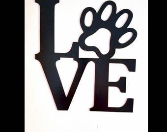 Love Dog Metal Wall Art