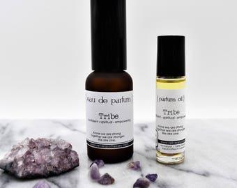 Parfum:  Tribe - herbaceous based aromatic blend - organic, vegan - Roll On Oil/Eau de Parfum