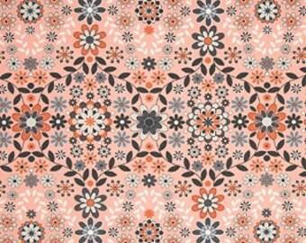 Free Spirit - Jenean Morrison - Silent Cinema Sateen Sunrise in Orange - Half Yard Home Dec Cotton Fabric