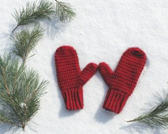 Knit Mittens, Womens Mittens, Classic Crochet Mittens, Crochet Winter Mittens, Made to Order