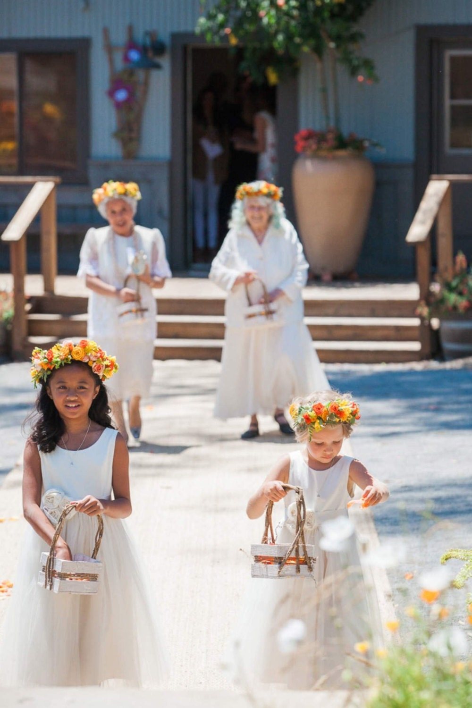 Flower Girl Dress Natural Organic Cotton Flower Girl Dress