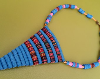 Australian Earth Modern Tribal Recycled Vulcanite Necklace