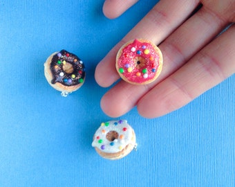 Donut Lapel Pin with Color Sprinkles