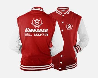 Cerulean City Gym Varsity Jacket inspired by Pokemon u9bIi