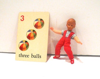 Vintage Dollhouse Bendable Boy Miniature Doll Germany by VintageReinvented