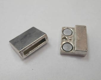 1 magnetic clasp 14 x 2 mm antique silver