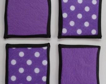 Purple Handmade Felt Coasters