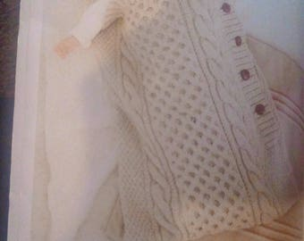 Cream cable knit baby cocoon