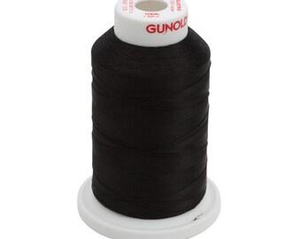 1005 Black Gunold Thread - 40 WT SULKY RAYON Mini King Cones 1,100 Yds - Machine Embroidery Thread