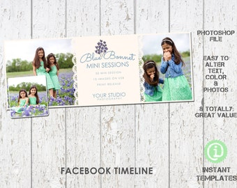Spring Facebook Timeline Photoshop Template - F1S001
