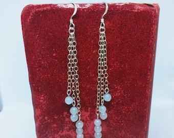 Sterling Silver & Aquamarine Drop Earrings