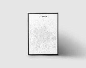 Dijon Map Print
