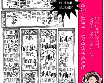 Bookmarks clip art - Printable - Mother