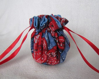 Jewelry Bag - Mini Size - Travel Jewelry Pouch - Drawstring Tote - RODEO ROUNDUP