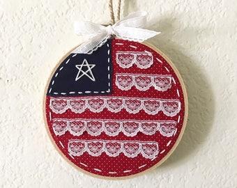 American Flag Hoop