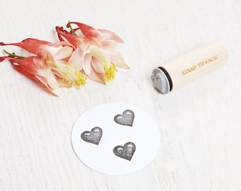 Heart - Mini Rubber Stamp