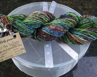 Down in the Valley yarn- hand painted - hand spun - chain plyed
