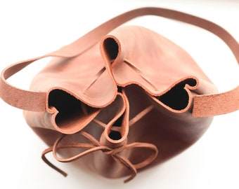 Leather Bucket Bag - Leather Purse - Leather Shoulder Bag - Leather Tote - Shoulder Bag - Bucket Bag - Leather Bucket Purse - Brown Leather