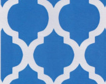 Fabric Finders Turquoise Quatrefoil Fabric by the Yard, Blue Fabric Yardage, Turquoise Fabric, Fat Quarters