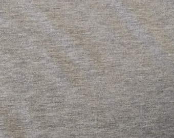 Heather Grey French Terry Spandex Fabric by the yard (295)