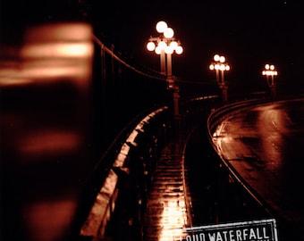 Pasadena Bridge After the Rain, Midnight Reflections - 8x10 11x14 16x20 Fine Art Photograph