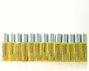 Natural Perfume Oil Roll On  / Choose your fragrance  / Scent for Men for Women
