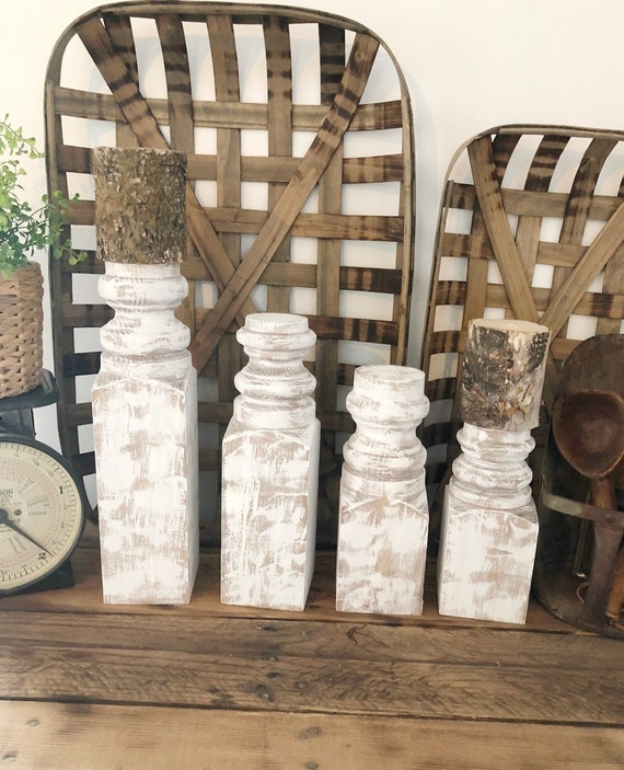 Vintage Replica Wood Candlesticks