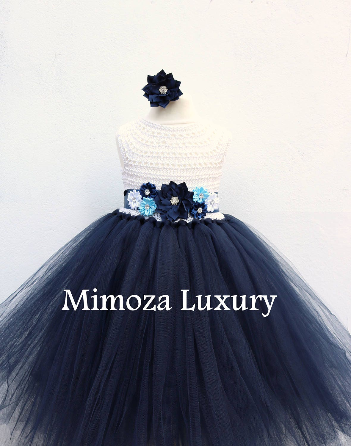 Navy white flower girl dress white and navy tutu dress navy blue navy white flower girl dress white and navy tutu dress navy blue white bridesmaid dress navy blue princess dress white navy wedding izmirmasajfo Image collections