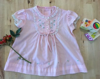 Smock dress baby girl pink size 00