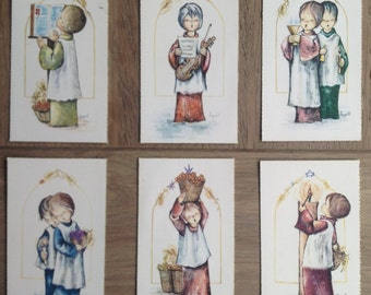 9 lovely vintage first communion memorial cards
