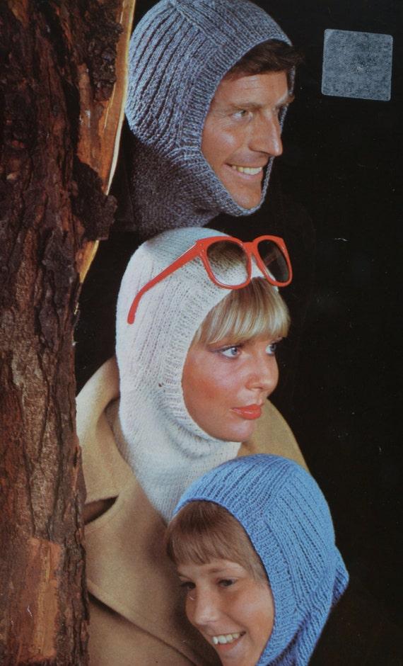 PDF family balaclavas balaclava vintage knitting pattern pdf