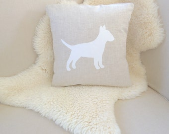 English Bull Terrier Pillow Cover