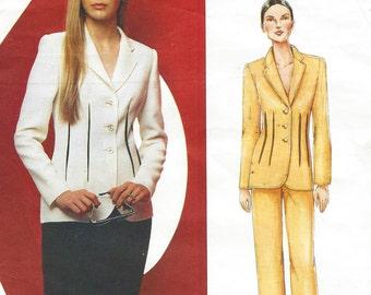 Bill Blass Womens Below Hip Jacket, Skirt & Pants Vogue Sewing Pattern 2464 Size 14 16 18 Bust 36 38 40 UnCut Vogue American Designer