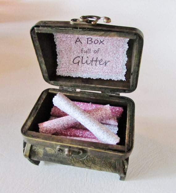 Graduation Gift, A Box full of Glitter, Inspirational, Motivational Quotes in Treasure Chest, Uplifting, Inspiring, Good Luck, Personalized