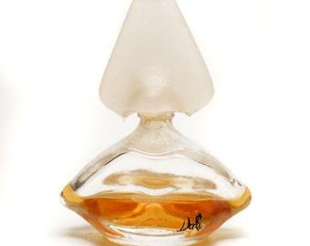 SALE! Vintage Salvador Dali Lips & Nose Mini Perfume Bottle Perfume Mini Collectible Perfume Bottle Half Full Designer Fragrance Bottle