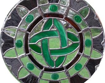 "12"" X 12"" Stained Glass ""Recreation"" Mandala Pattern PDF B&W Digital Download"