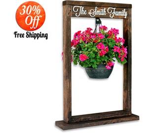 Plant Stand.Planter.Plant Pot.Hanging Planter.Plant Hanger.Tall Stand.Wooden Plant Stand.Outdoor Plant Stand.Wood Plant Stand (Plant Stand)