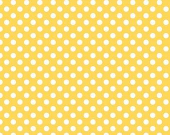 Yellow Small Dots Fabric from Riley Blake Designs - by the Yard - 1 Yard - Yellow Polka Dots - C350-50
