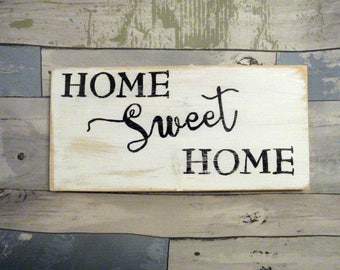 Home sweet home sign - Farmhouse sign - Rustic home sign - Rustic farmhouse sign  -  Gift for couples - Housewarming gift - Rustic wood sign