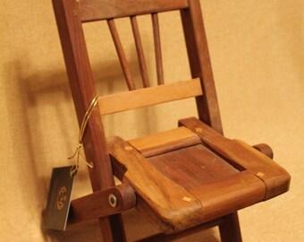 Guayacan / Ironwood Hard Wood Hand Carved Miniature Chair