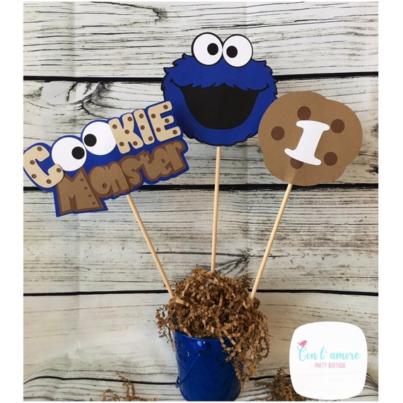 Sesame street cookie monster birthday party decoration like this item voltagebd Images