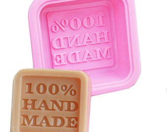 """Molding Silicone Square """"100% handmade""""/soaps/pans/baking"""
