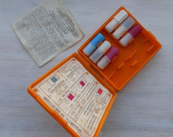 Vintage Military Individual First Aid Kit from USSR/Medicine Chest/Soviet (Russian) medicine chest