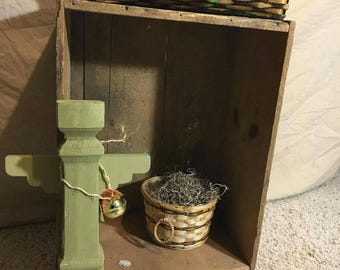 Angel rustic primitive up-cycled  light green bell